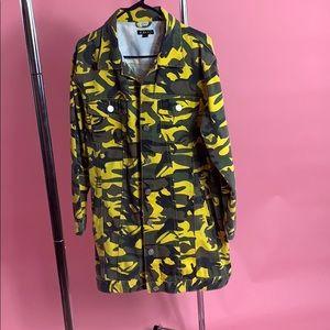 Yellow Camouflage Denim Jacket